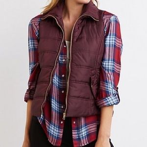 Charlotte Russe • Wine Puffer Vest